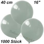 Luftballons 40 cm, Silbergrau, 1000 Stück