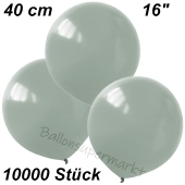 Luftballons 40 cm, Silbergrau, 10000 Stück