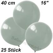 Luftballons 40 cm, Silbergrau, 25 Stück