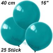 Luftballons 40 cm, Türkis, 25 Stück