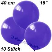 Luftballons 40 cm, Violett, 10 Stück