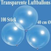 Luftballons, transparent, 40 cm, 100 Stück