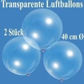 Luftballons, transparent, 40 cm, 2 Stück