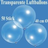 Luftballons, transparent, 40 cm, 50 Stück