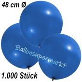 Große Luftballons, 48-51 cm, Blau, 1000 Stück