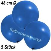 Große Luftballons, 48-51 cm, Blau, 5 Stück