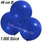 Große Luftballons, 48-51 cm, Dunkelblau, 1000 Stück