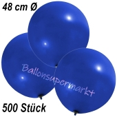 Große Luftballons, 48-51 cm, Dunkelblau, 500 Stück
