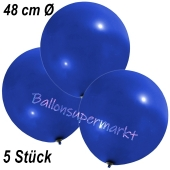 Große Luftballons, 48-51 cm, Dunkelblau, 5 Stück