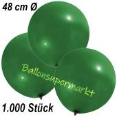 Große Luftballons, 48-51 cm, Dunkelgrün, 1000 Stück