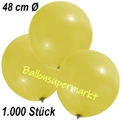 Große Luftballons, 48-51 cm, Gelb, 1000 Stück