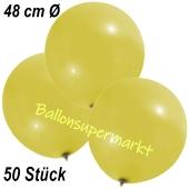 Große Luftballons, 48-51 cm, Gelb, 50 Stück