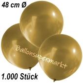 Große Luftballons, 48-51 cm, Gold, 1000 Stück