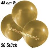 Große Luftballons, 48-51 cm, Gold, 50 Stück