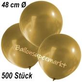 Große Luftballons, 48-51 cm, Gold, 500 Stück