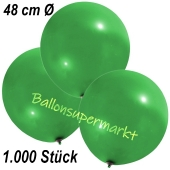 Große Luftballons, 48-51 cm, Grün, 1000 Stück