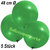 Große Luftballons, 48-51 cm, Grün, 5 Stück