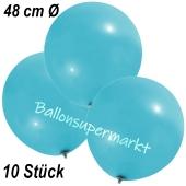 Große Luftballons, 48-51 cm, Hellblau, 10 Stück