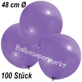 Große Luftballons, 48-51 cm, Lavendel, 100 Stück