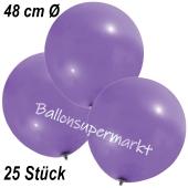 Große Luftballons, 48-51 cm, Lavendel, 25 Stück