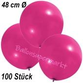 Große Luftballons, 48-51 cm, Magenta, 100 Stück