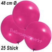 Große Luftballons, 48-51 cm, Magenta, 25 Stück