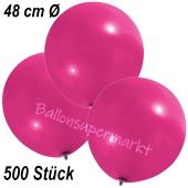 Große Luftballons, 48-51 cm, Magenta, 500 Stück