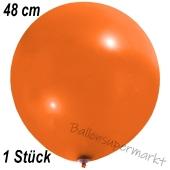 Großer Luftballon, 48-51 cm, Orange