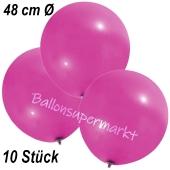 Große Luftballons, 48-51 cm, Pink, 10 Stück