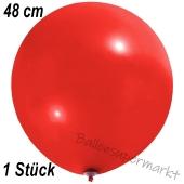 Großer Luftballon, 48-51 cm, Rot