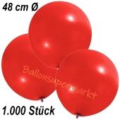 Große Luftballons, 48-51 cm, Rot, 1000 Stück
