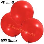 Große Luftballons, 48-51 cm, Rot, 500 Stück