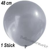 Großer Luftballon, 48-51 cm, Silber