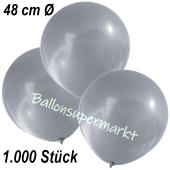 Große Luftballons, 48-51 cm, Silber, 1000 Stück