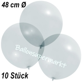 Große Luftballons, 48-51 cm, Transparent, 10 Stück