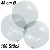 Große Luftballons, 48-51 cm, Transparent, 100 Stück