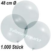 Große Luftballons, 48-51 cm, Transparent, 1000 Stück