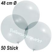 Große Luftballons, 48-51 cm, Transparent, 50 Stück