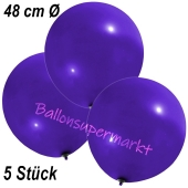 Große Luftballons, 48-51 cm, Violett, 5 Stück
