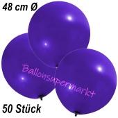 Große Luftballons, 48-51 cm, Violett, 50 Stück