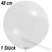 Großer Luftballon, 48-51 cm, Weiß
