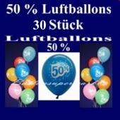 Luftballons 50 % Rabatt, 30 Stück