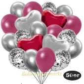 luftballons-50er-pack-14-silber-konfetti-und-15-metallic-burgund-15-chrome-silber-3-folienballons-burgund-und-3-folienballons-silber