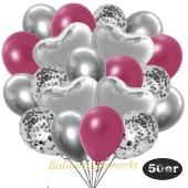 luftballons-50er-pack-14-silber-konfetti-und-15-metallic-burgund-15-chrome-silber-und-6-folienballons-silber