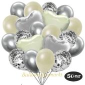 luftballons-50er-pack-14-silber-konfetti-und-15-metallic-elfenbein-15-chrome-silber-3-folienballons-elfenbein-und-3-folienballons-silber