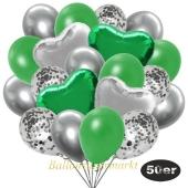 luftballons-50er-pack-14-silber-konfetti-und-15-metallic-gruen-15-chrome-silber-3-folienballons-gruen-und-3-folienballons-silber