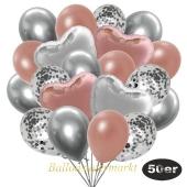 luftballons-50er-pack-14-silber-konfetti-und-15-metallic-rosegold-15-chrome-silber-3-folienballons-rosegold-und-3-folienballons-silber