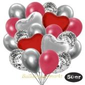 luftballons-50er-pack-14-silber-konfetti-und-15-metallic-rot-15-chrome-silber-3-folienballons-rot-und-3-folienballons-silber