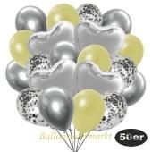 luftballons-50er-pack-14-silber-konfetti-und-15-metallic-pastellgelb-15-chrome-silber-und-6-folienballons-silber