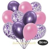 luftballons-50er-pack-15-flieder-konfetti-und-18-metallic-rose-17-chrome-lila
